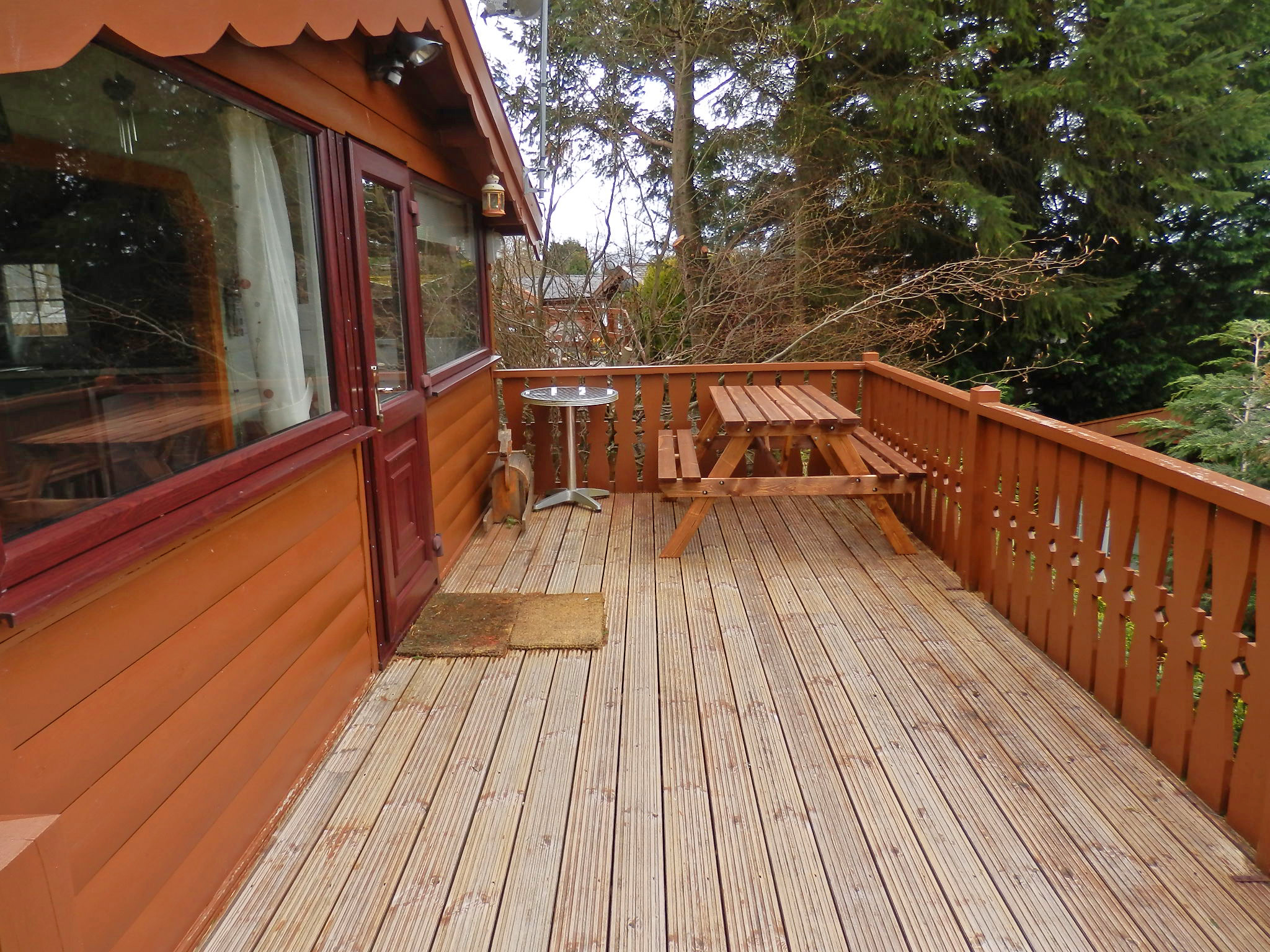 Decking with Picnic Bench